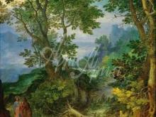 1589_100х70_Ян Брейгель (старший) - Скалистый пейзаж с искушением Христа