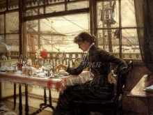 1518_65х54_Жак-Жозеф Тиссо - Номер с видом на гавань