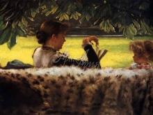 1548_55х38_Жак-Жозеф Тиссо- За чтением