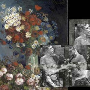 Неизвестная картина - Натюрморт с луговыми цветами и розами