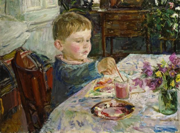 Пластов – Внук рисует (1959)