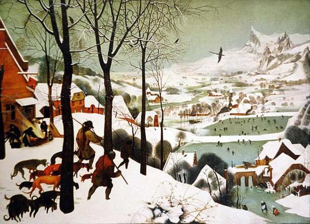 Брейгель – Охотники на снегу (Возвращение охотников)