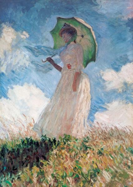 Клод Моне – Дама с зонтиком (Прогулка)
