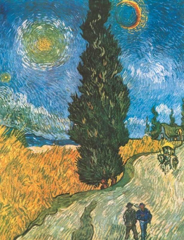 Дорога с кипарисами и звездой - Винсент Ван Гог